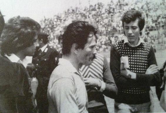Pasolini allo stadio provinciale di Trapani il 4 maggio 1975
