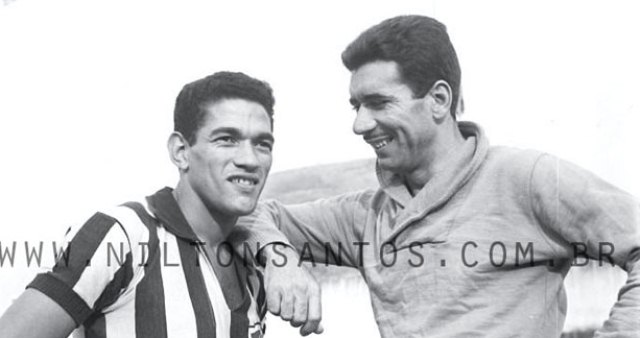 Nilton Santos (a destra) con il suo amico Garrincha