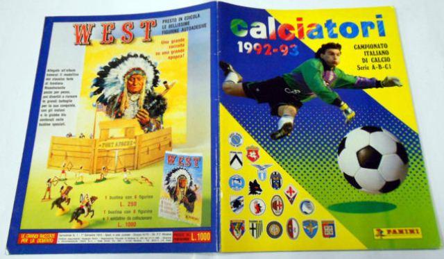 Album Calciatori Panini 1992-92